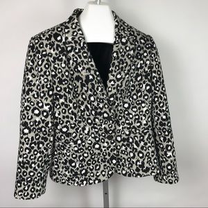 Calvin Klein Animal Print Blazer Size 14 Lined
